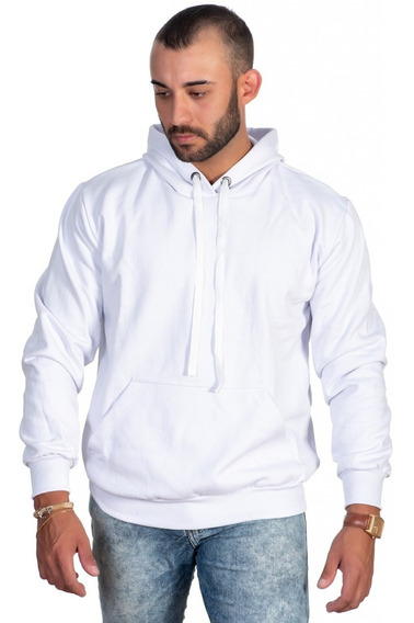 Moletom Masculino Blusa De Frio Bolso E Capuz Varias Cores