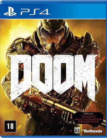 Jogo Doom Playstation 4 Ps4 100% Português Frete Grátis Game