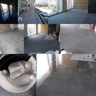 Kit Similar Cemento Visto Microcemento Muros Pisos Muebles