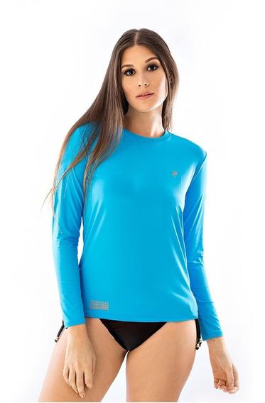Camisa Feminina Proteção Uv Solar Baby Look Radar Térmica