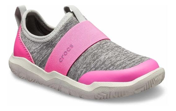 Zapatillas Crocs Swiftwater Easyon Hthr Shoe Kids Pink