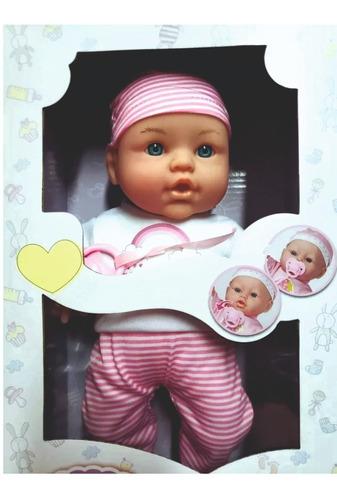 Muñeca Bebe Poppi Mi Primer Chupete Con Sonidos