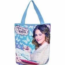 Bolsa Feminina Tote Bag Violetta Borboletas Lona