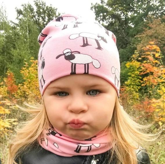 2 Pçs Gorro + Cachecol Animal Bebê Touca Infantil Inverno
