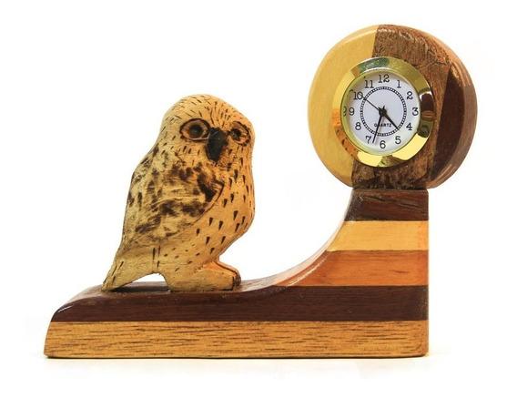 Relojes De Escritorio De Madera Artesanales