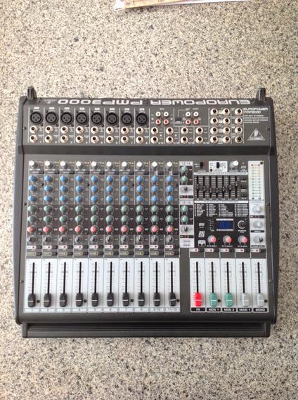 Mesa De Som Amplificada Behringer Pmp3000 16 Canais 1200 W