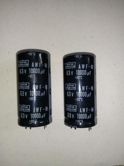 Capacitor Electrolitico Blindado 10000uf 63v +85° X 2 Unid.