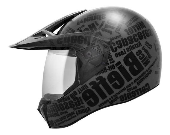Capacete Bieffe 3 Sport Mirror Preto Fosco Com Chumbo Barato
