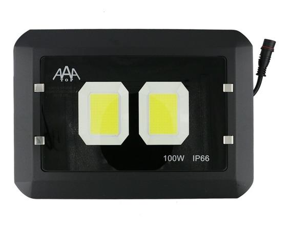 Refletor Holofote 2 Placa Cob 100w - Branco Frio - Yytz100w