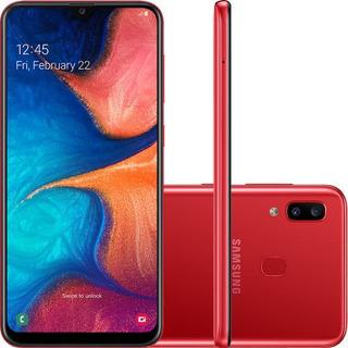 Smartphone Samsung Galaxy A20 32gb Dual, Tela 6.4 Vermelho