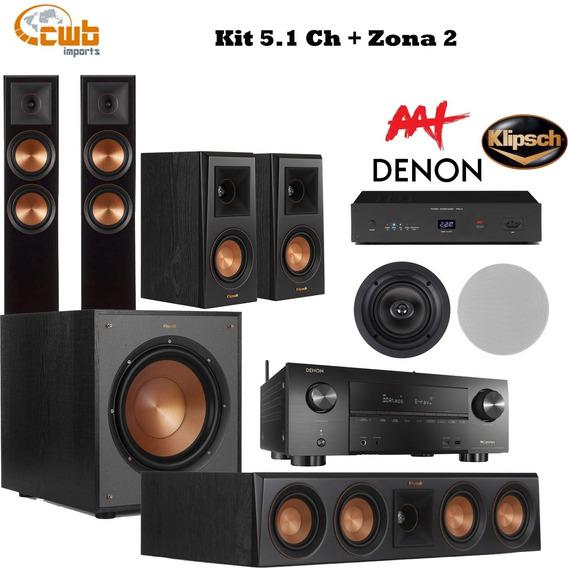 Kit Home 5.1 Ch Caixas Klipsch Receiver Denon X3600