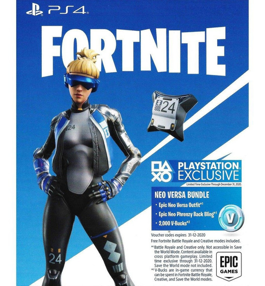 Fortnite - Epic Neo Versa Bundle + 2000 V-bucks Ps4 Bra- Eua
