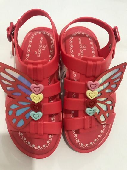 Sandália Worldcolors Drops Kids - Coral