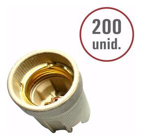 200 Bocais De Porcelana Para Lampada Comum E Led E27