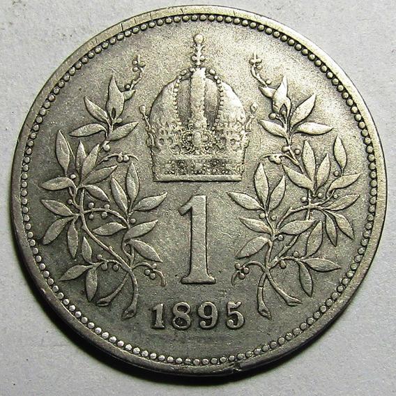 Austria Moneda 1 Corona 1895 Vf+ Km#2804 Plata