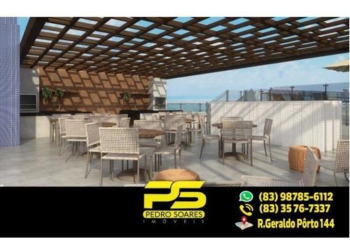 (lançamento) Belíssimo Apartamento À Venda Em Camboinha, Unidades (a Partir) De 1 Quarto, 88 M² Por R$ 384.105 - Camboinha - Cabedelo/pb - Ap1829