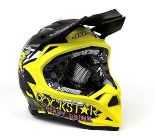 Casco Just1 J32 Negro/amarillo Mate Rockstar Cross
