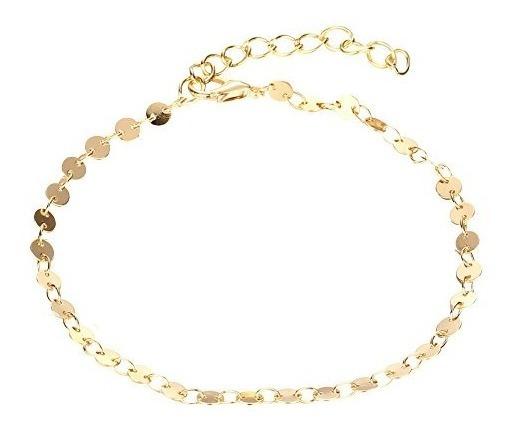 Pulseira Banhada A Ouro 18 K. Decorativa Em Chapinha Lisa