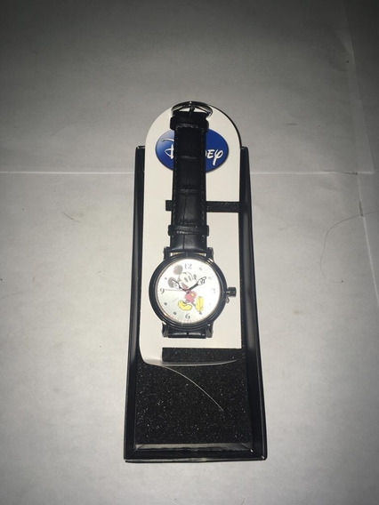 **disney Mickey Mouse Reloj Analógico,de Cuarzo Color Negro