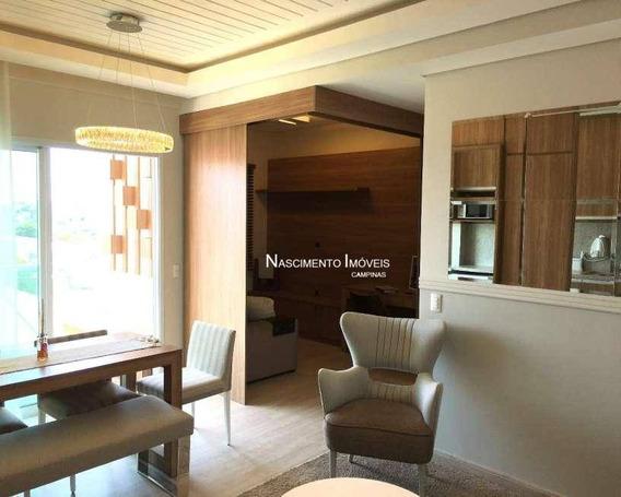 Apartamento Com 2 Dormitórios À Venda, 58 M² Por R$ 386.000 - Taquaral - Campinas/sp - Ap0536