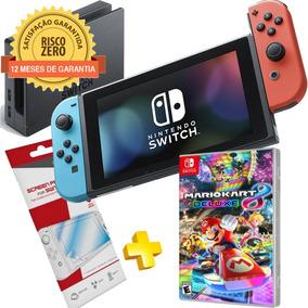 Nintendo Switch Neon + Jogo Mario Kart 8 Deluxe
