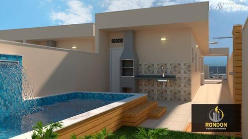 Casa Com 2 Dormitórios À Venda, 65 M² Por R$ 339.000,00 - Jardim Das Palmeiras - Itanhaém/sp - Ca1359