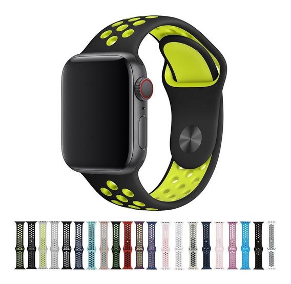 Pulseiras Silicone Para Apple Watch 38mm 40mm 42mm 44mm