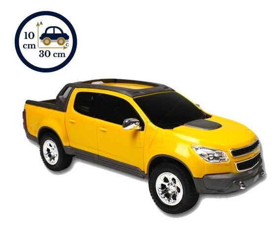 Miniatura De Brinquedo Caminhonete Amarelo S10 Pick-up 1145
