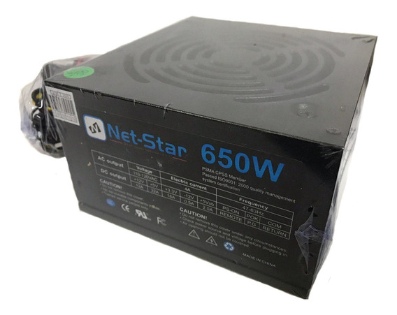 Fuente De Poder 650w 20/24 Pines 550 Watts Atx Cable Largo