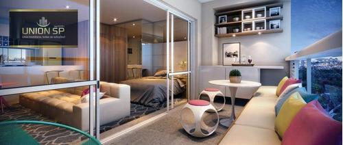 Imagem 1 de 14 de Studio Com 1 Dormitório À Venda, 48 M² Por R$ 703.011,00 - Campo Belo - São Paulo/sp - St0847