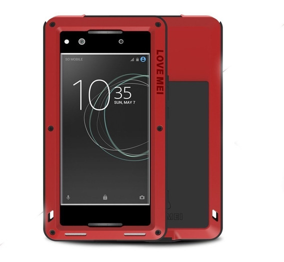 Funda Sony Xz Premium Love Mei Powerful De Uso Rudo Aluminio