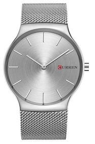 Relógio Curren Prata 8256 Aço Inoxidável Com Nota Fiscal