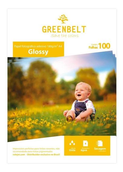 Papel Fotográfico Adesivo Glossy 180g Greenbelt A4 100folhas