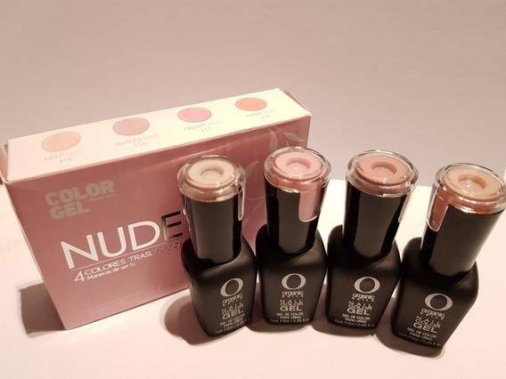Color Gel Nude By Organic Nails 4 Colores Translúcidos 7.5ml