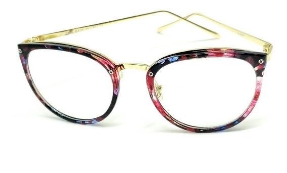 Óculos Feminino Armação Grau Geek Óculos Vintage Preta Cores