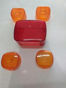 Lente Pisca + Lente Lanterna Traseira Agrale 5 Peças