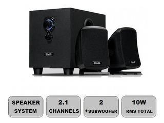 Bocina Subwoofer Klipx Stereo Speakers 2.1 Stereo Kss-710 S