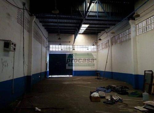 Imagem 1 de 1 de Galpão Para Alugar, 250 M² Por R$ 7/mês - Compensa - Manaus/am - Ga0238
