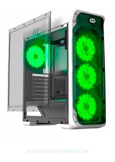 Case Gamer Gamemax Starlight 4 Coolers Led Verde Oferta