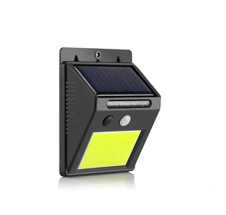 Aplique Reflector Led Panel Solar Sensor Movimiento Cob