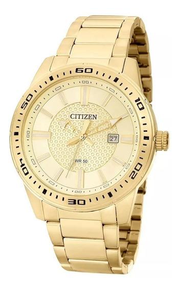 Relógio Masculino Citizen Tz20493g Analógico Dourado