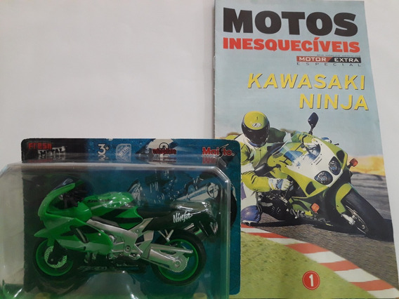 Miniatura De Moto Motocicleta Kawasaki Ninja Zx 9r Maisto