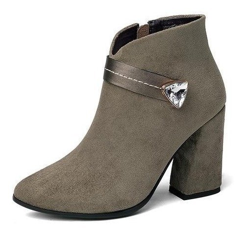 Ankle Boot Feminina J&k 08750 Importado Frete Grátis