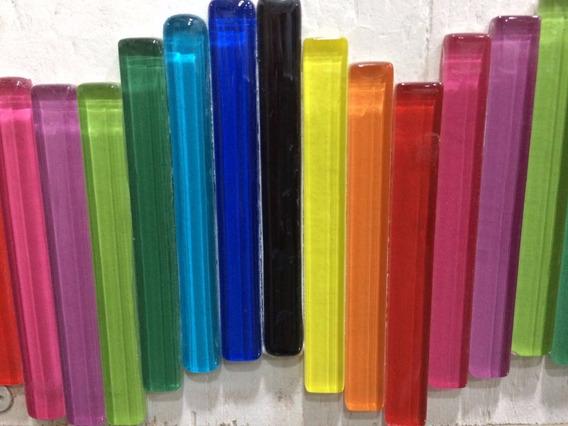 Palitos De Vidrio Vitro Colores X 30 Unidades Mosaiquismo