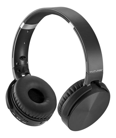 Fone De Ouvido Bluetooth E Rádio Fm Entradas Micro Sd E P2