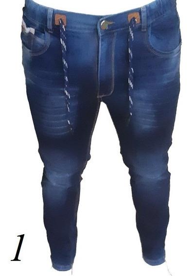 Pantalones De Caballero Jean Strech Jogger Talla 34- 36