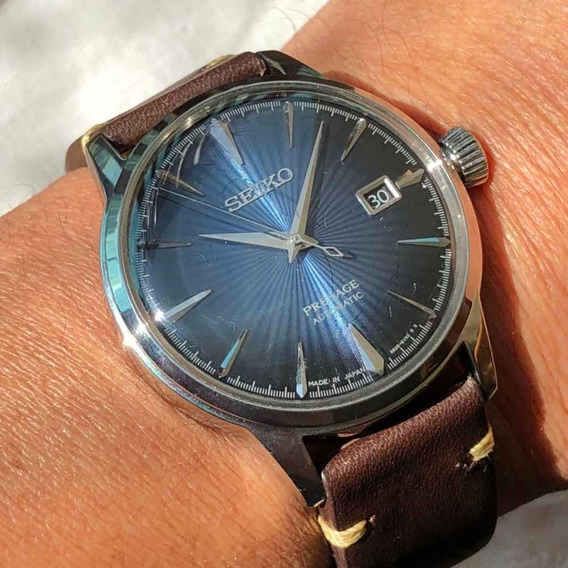 Seiko Presage Srpb41j1 Made In Japan Blue Moon Cocktail Aut