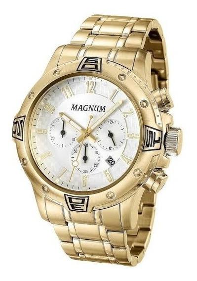 Relógio Magnum Cronógrafo Masculino Dourado Ma34405h