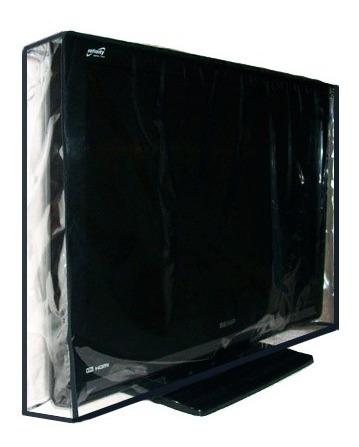 Capa Para Tv Led 40 Polegadas Em Pvc Cristal Transparente 100% Impermeável - Aberta Para Suporte De Parede