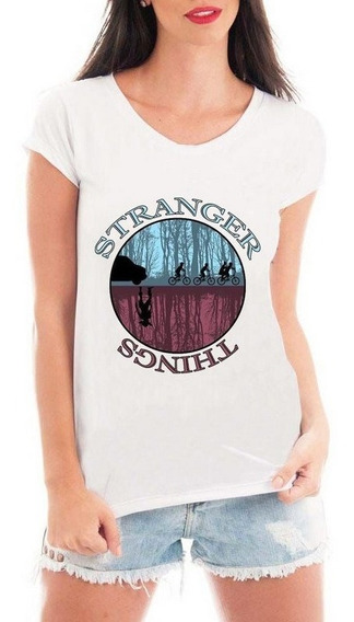 b62ff54b51c5 Camiseta Stranger Things Feminina Mundo Invertido - Calçados, Roupas ...